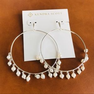 Kendra Scott Hilty silver pearl hoop earrings